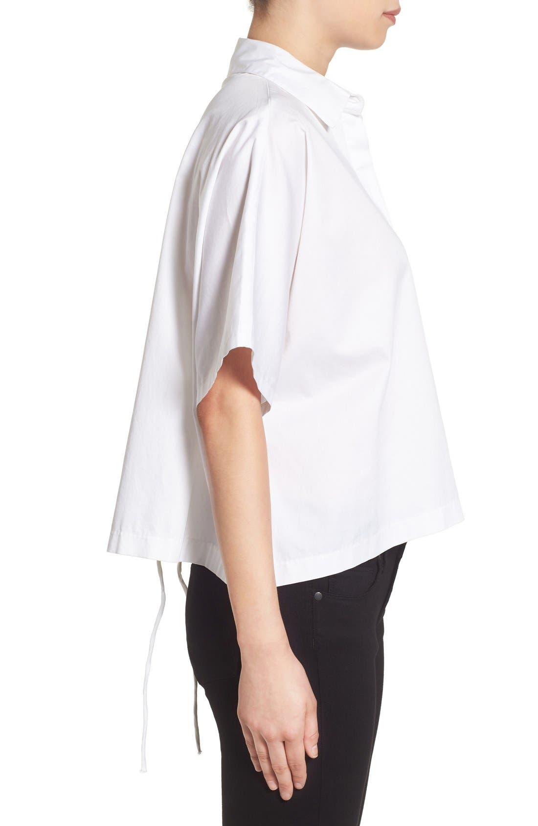 Alternate Image 3  - KENDALL + KYLIE Back Lace-Up Shirt