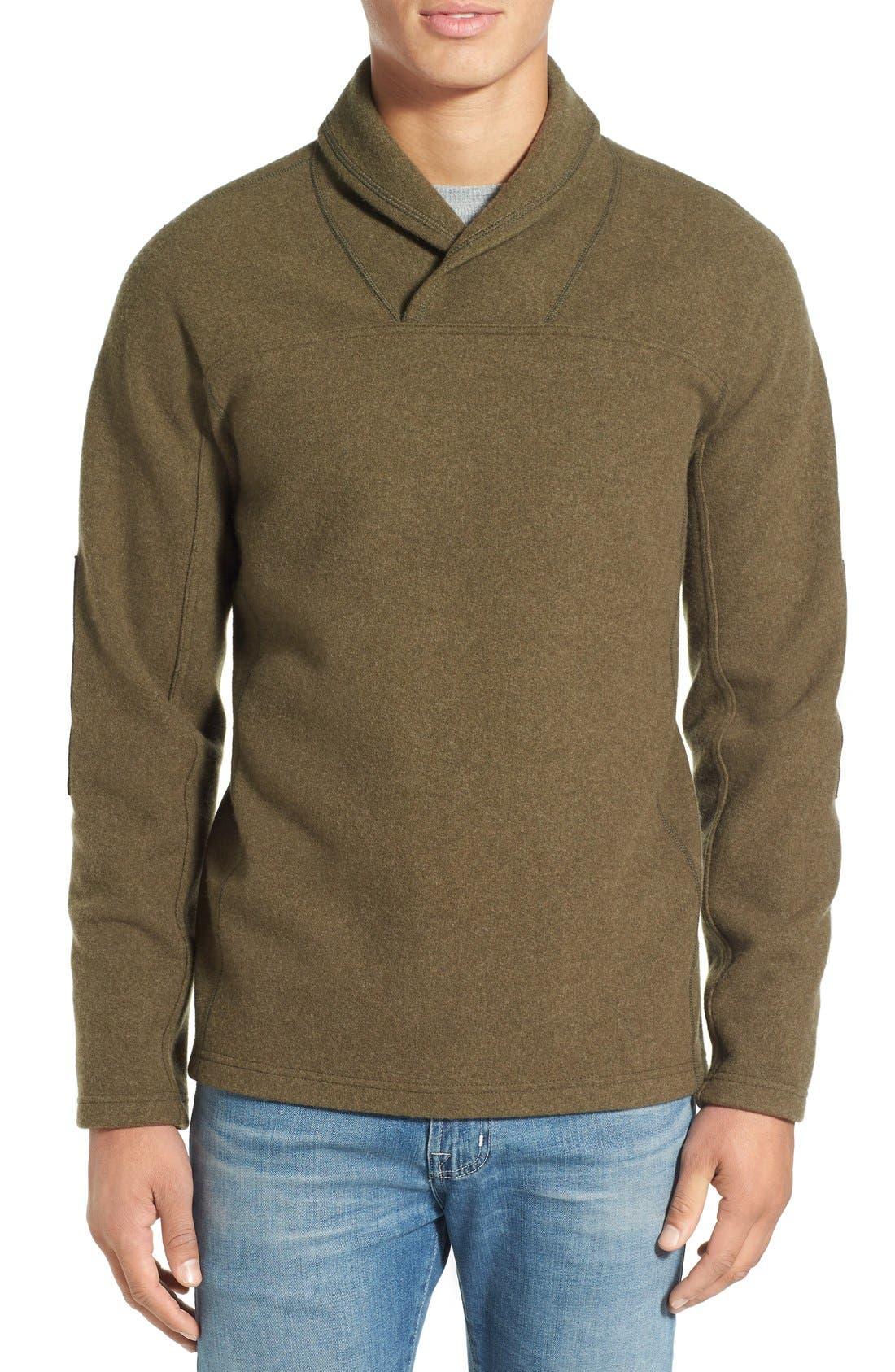 ibex 'Hunters Point' Merino Wool Shawl Collar Sweater