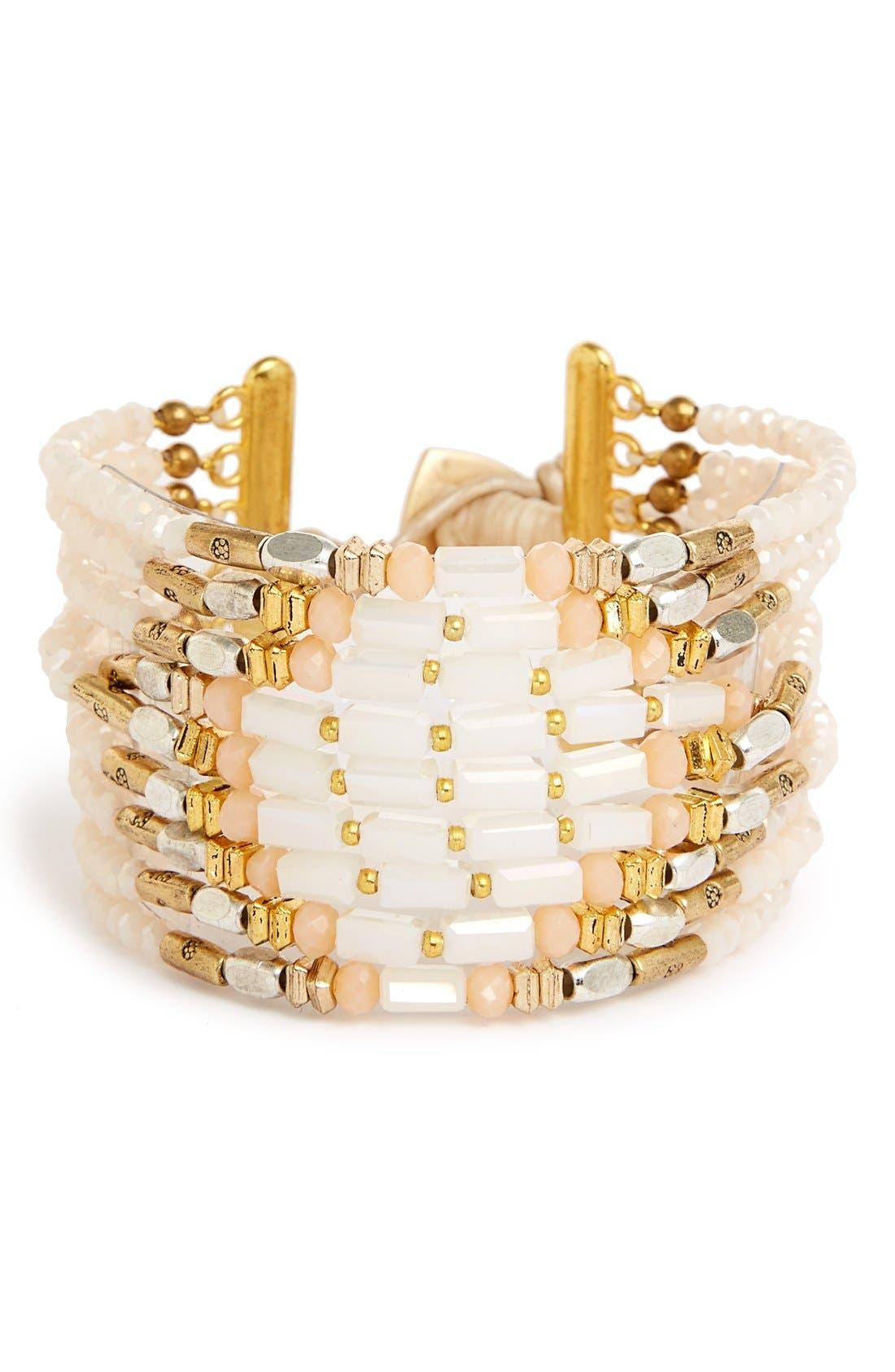 Alternate Image 1 Selected - Nakamol Design Beaded Bracelet Cuff