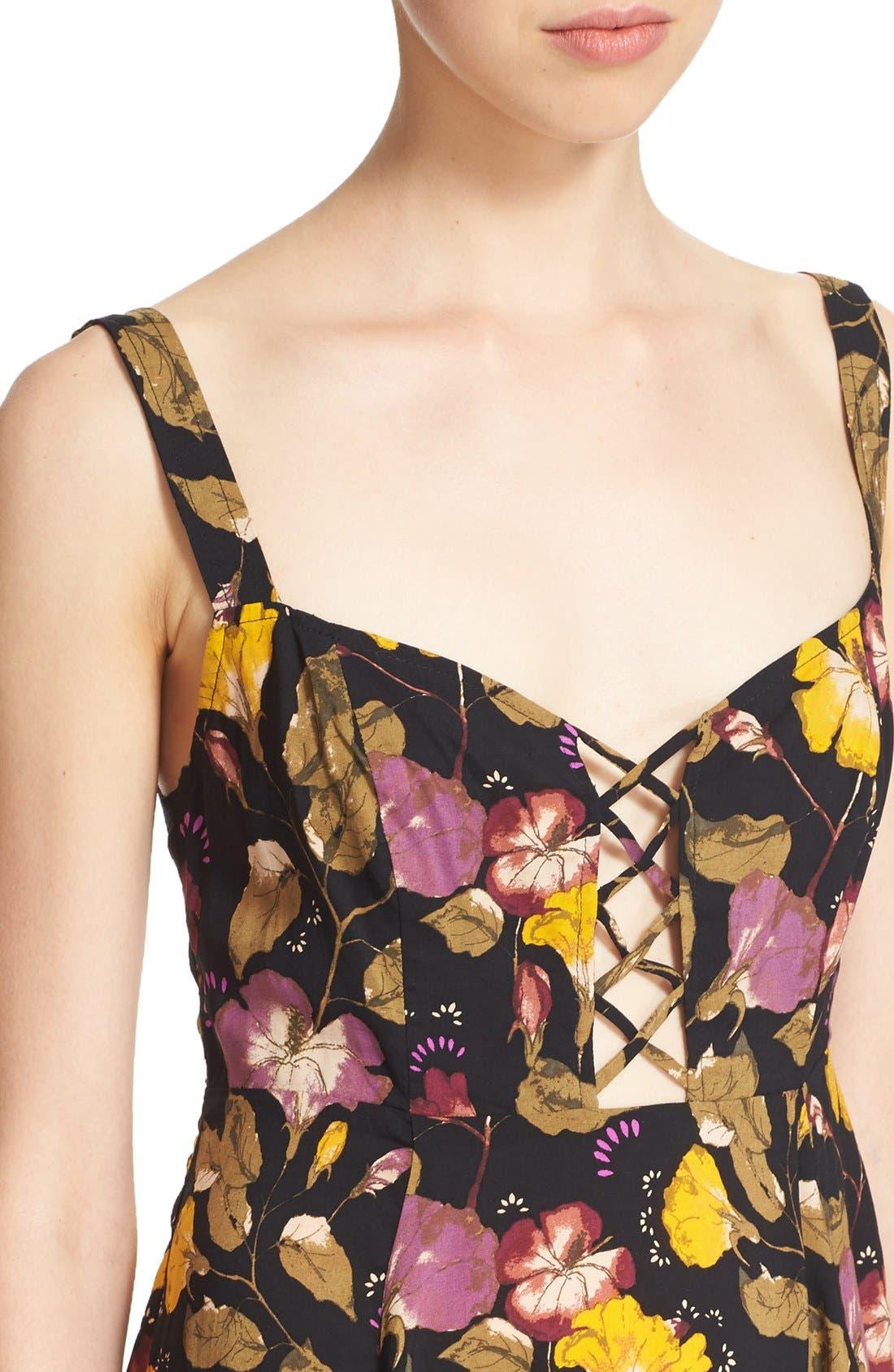 Alternate Image 4  - Free People 'Lattice Lovers' Lace-Up Minidress