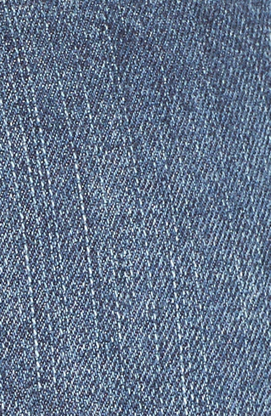 Alternate Image 5  - SP Black Plaid Pocket Cutoff Denim Shorts
