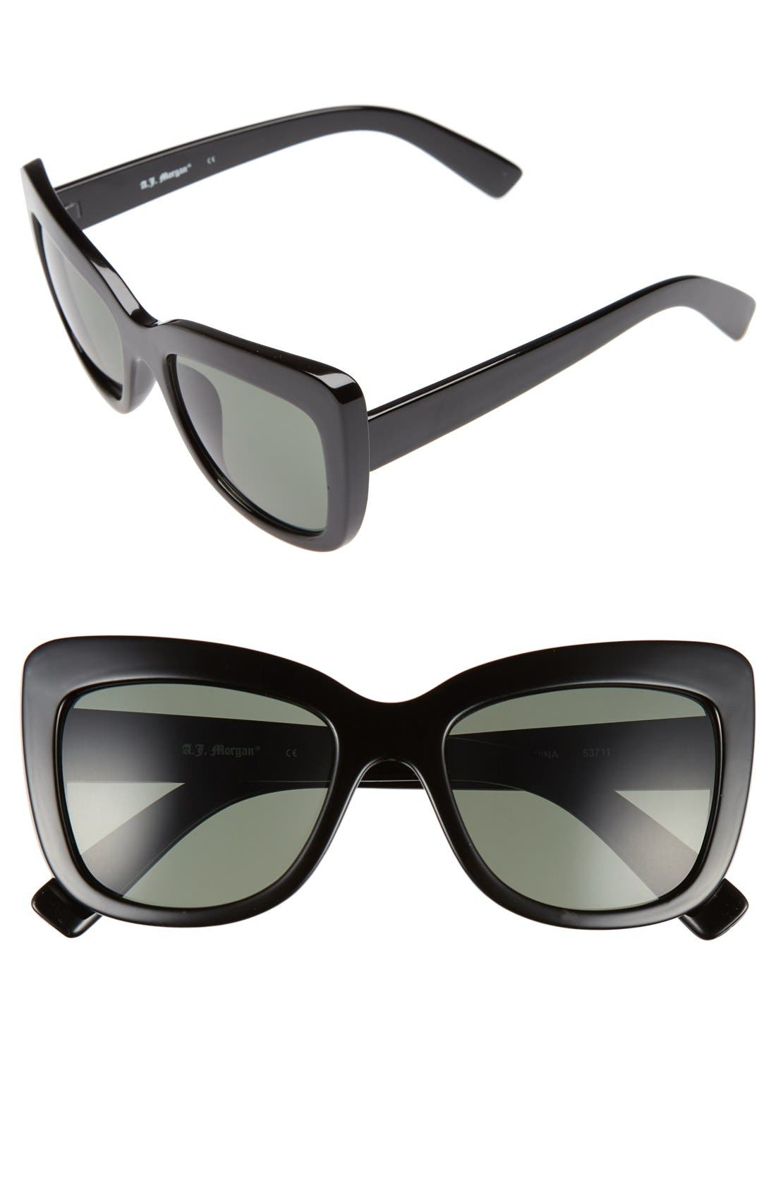 Main Image - A.J. Morgan 'Lift' 50mm Cat Eye Sunglasses