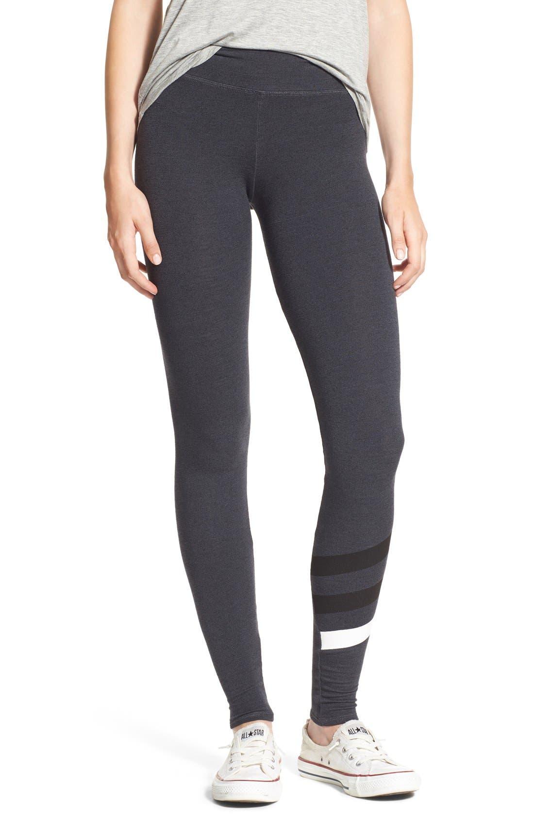 Alternate Image 1 Selected - Sundry Stripe Detail Yoga Pants