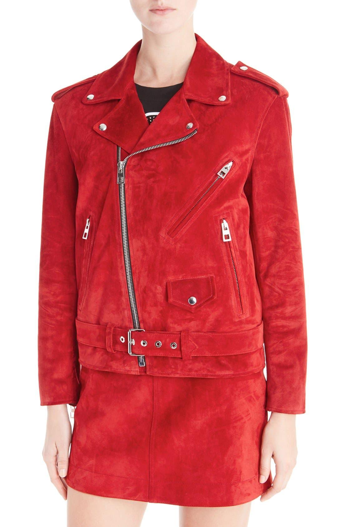 Alternate Image 6  - Loewe Suede Moto Jacket