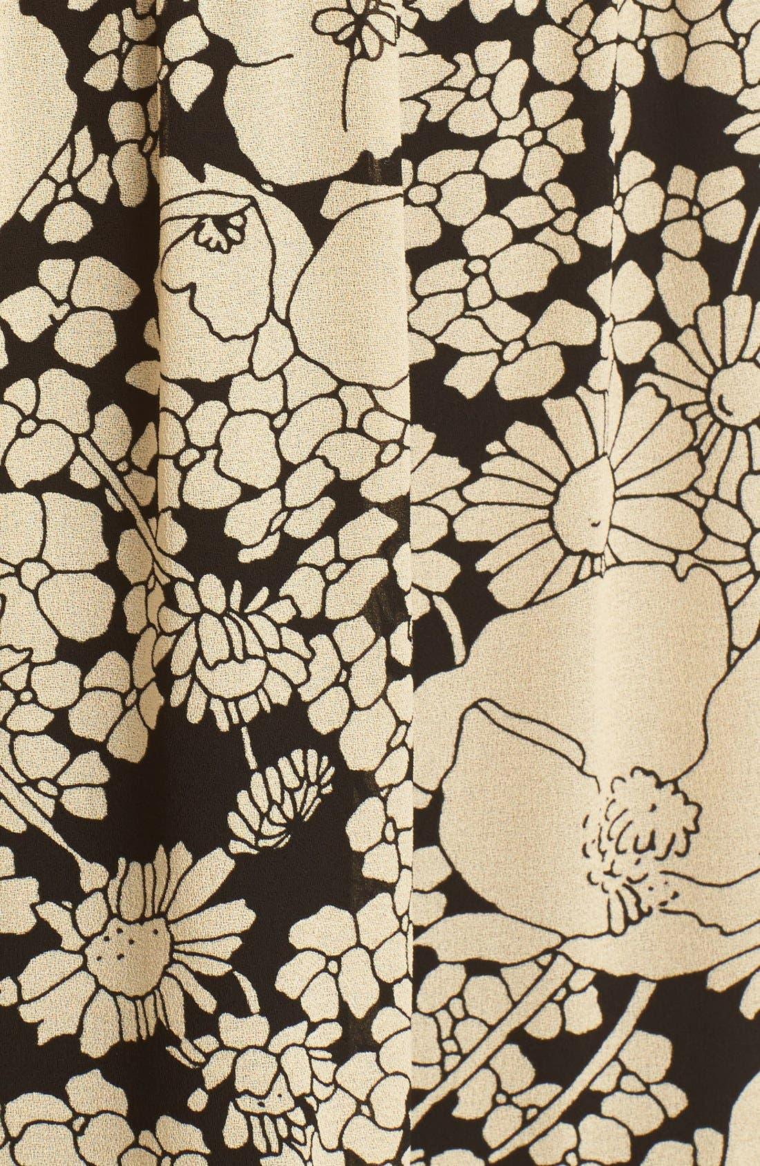 Alternate Image 3  - Saint Laurent Floral Print Crepe Midi Skirt