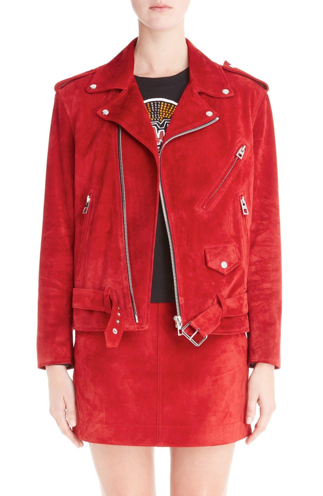 Alternate Image 1 Selected - Loewe Suede Moto Jacket