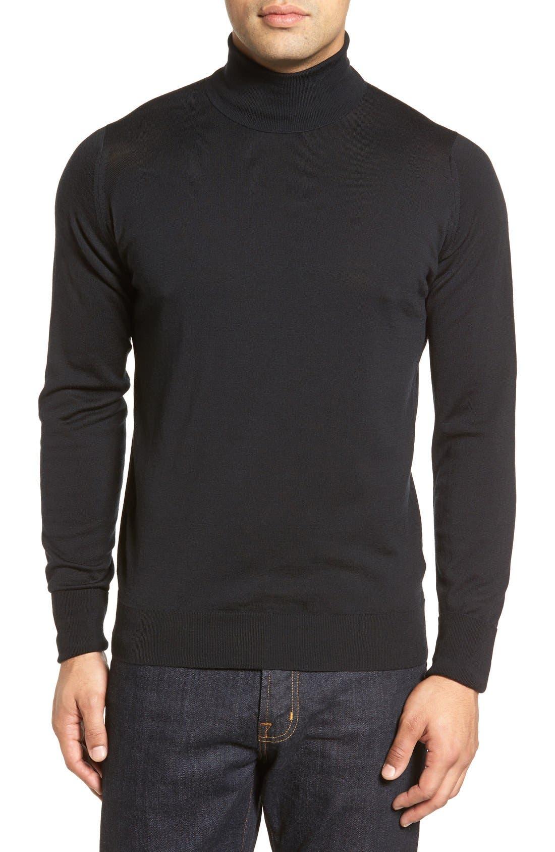 John Smedley 'Richards' Easy Fit Turtleneck Wool Sweater