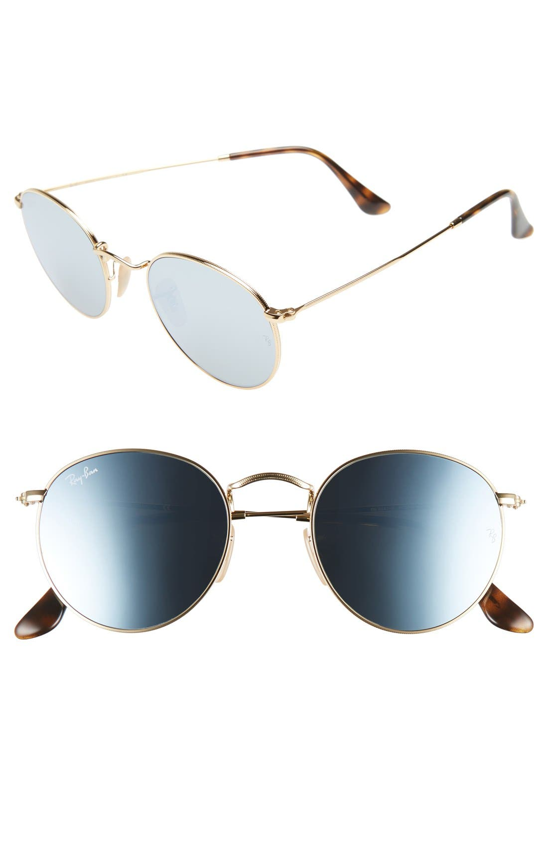 Alternate Image 1 Selected - Ray-Ban Icons 50mm Round Sunglasses
