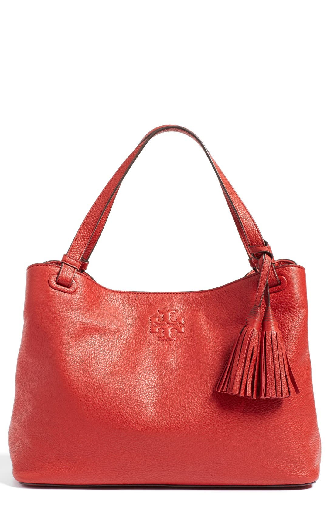 Alternate Image 1 Selected - Tory Burch 'Thea' Tassel Leather Tote