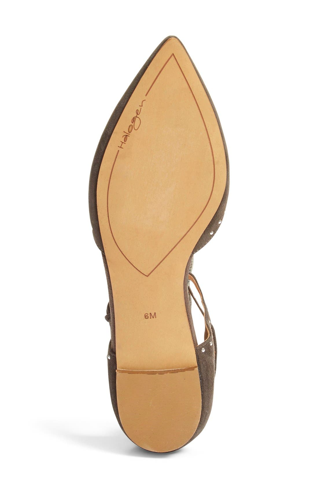 Alternate Image 4  - Halogen® 'Bristal' Ankle Strap Pointy Toe Flat (Women)