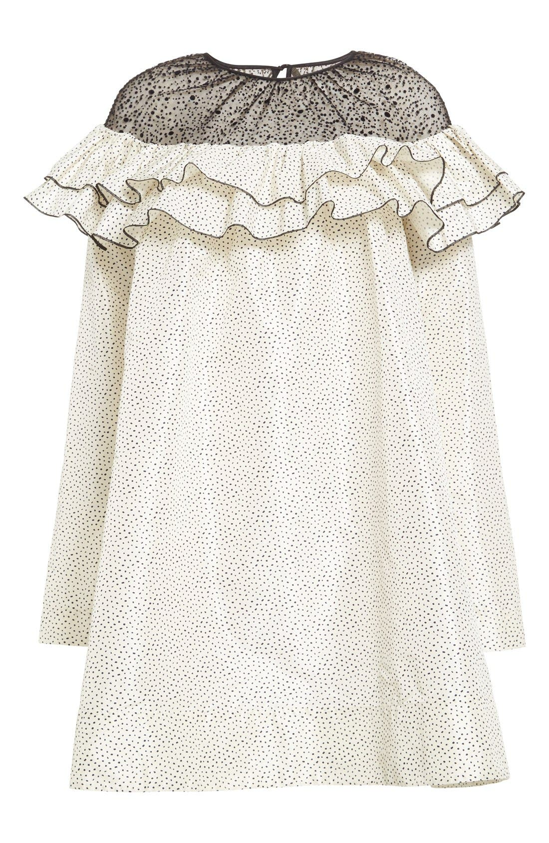 Alternate Image 4  - Isa Arfen Ruffle Illusion Yoke Shift Dress