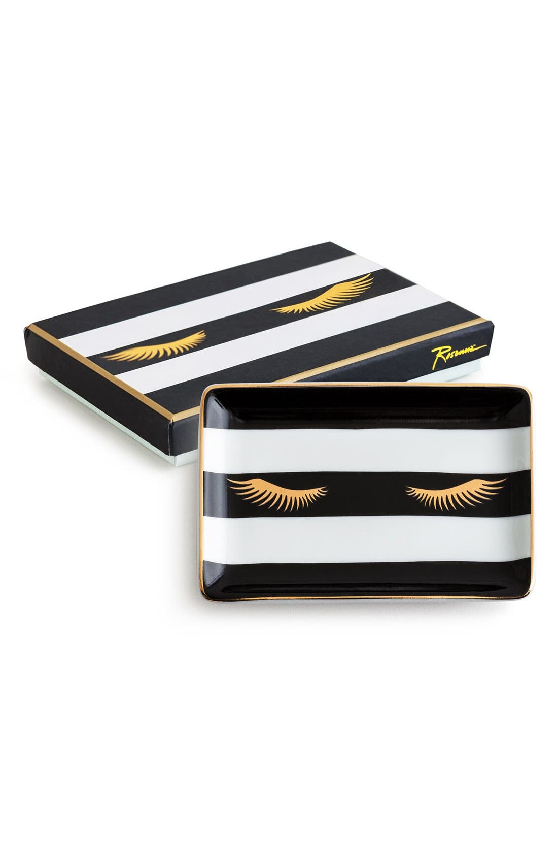 Rosanna Lashes Stripe Porcelain Tray