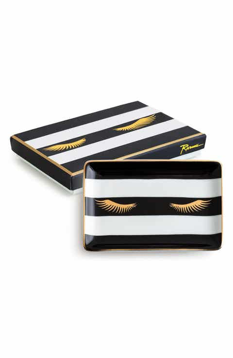rosanna lashes stripe porcelain tray - Home Decor For Sale