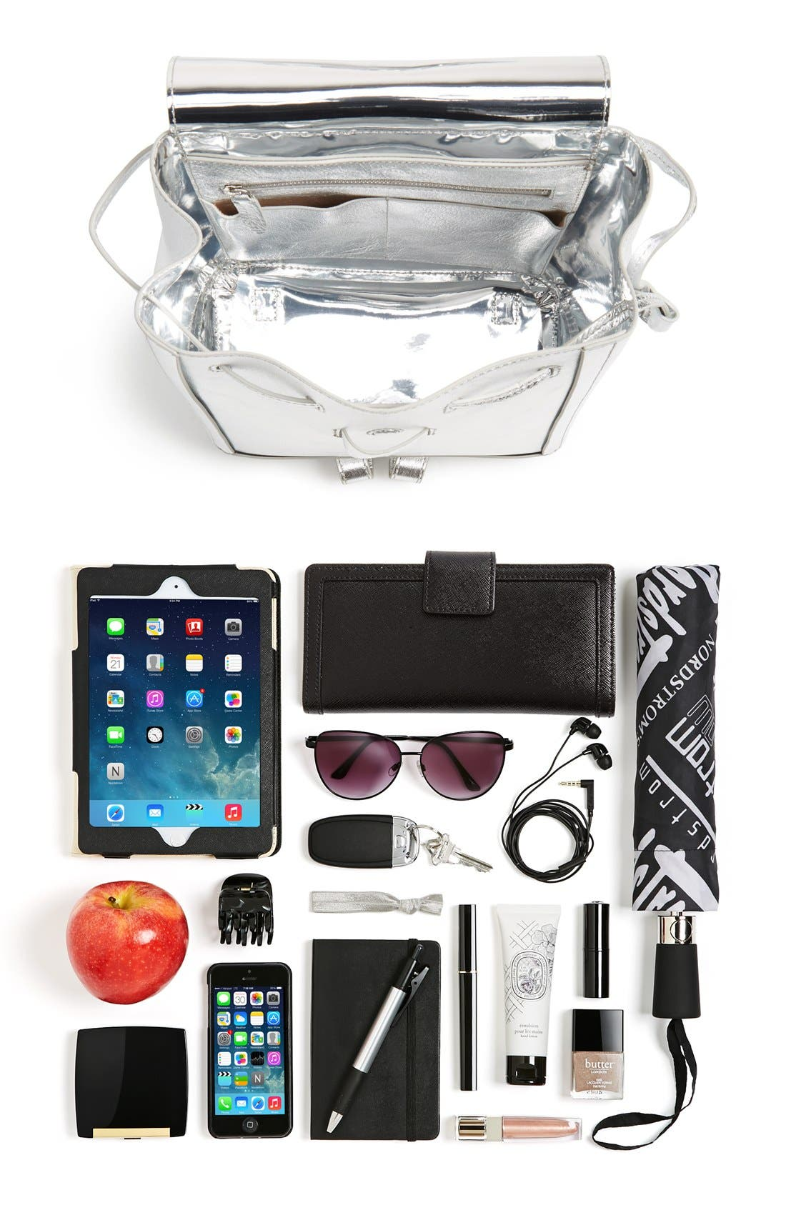 Alternate Image 7  - Loeffler Randall Mini Metallic Leather Backpack
