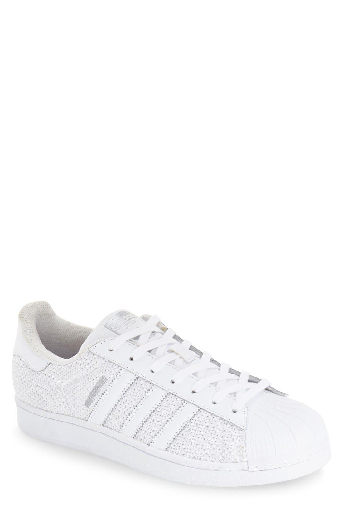 Alternate Image 1 Selected - adidas 'Superstar' Mesh Sneaker (Women)