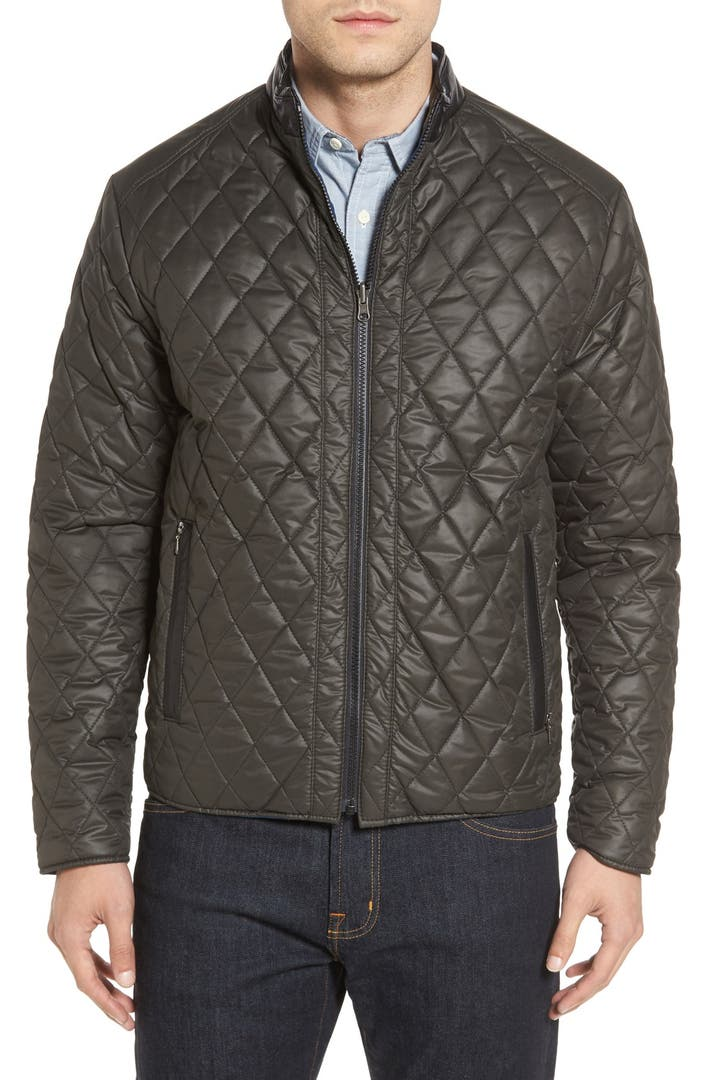 Remy Leather Diamond Quilted Water Resistant Reversible