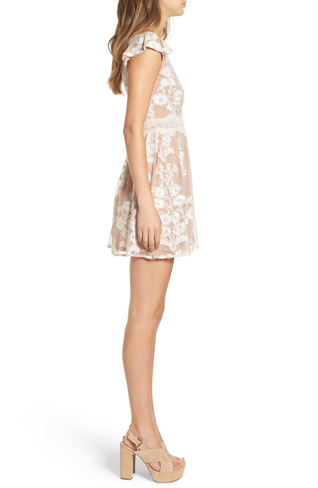 Alternate Image 4  - For Love & Lemons x Nordstrom 'Salud' Embroidered Mesh Minidress (Nordstrom Exclusive)