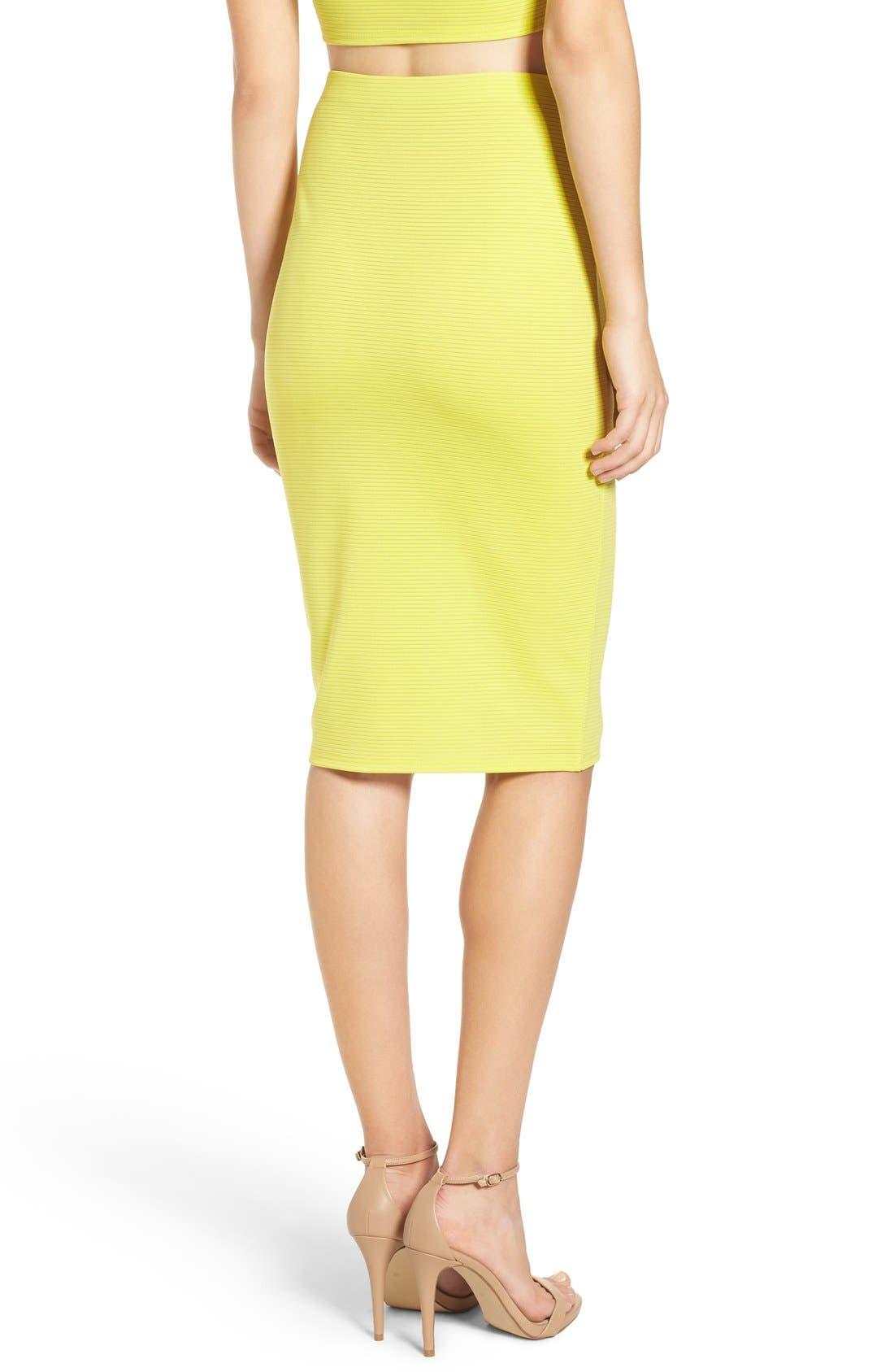 Alternate Image 3  - Missguided Ribbed Midi Skirt