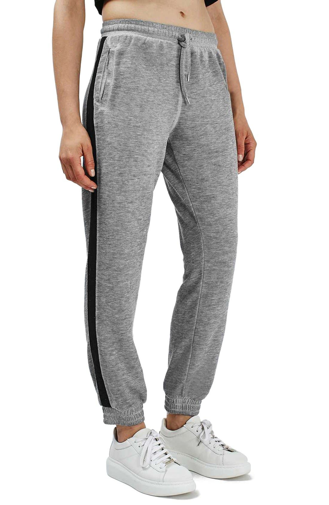 Alternate Image 1 Selected - Topshop Side Stripe Burnout Jogger Pants