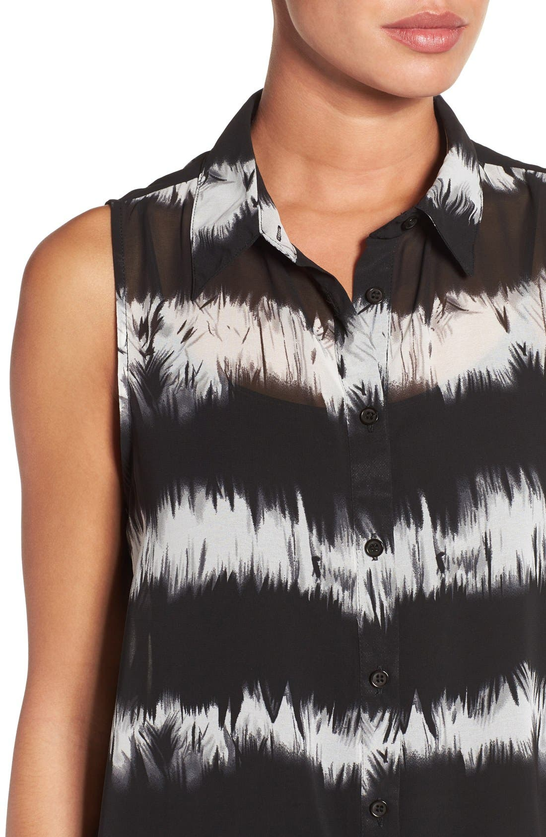 Alternate Image 4  - Press Tie Dye Sleeveless Tunic Shirt
