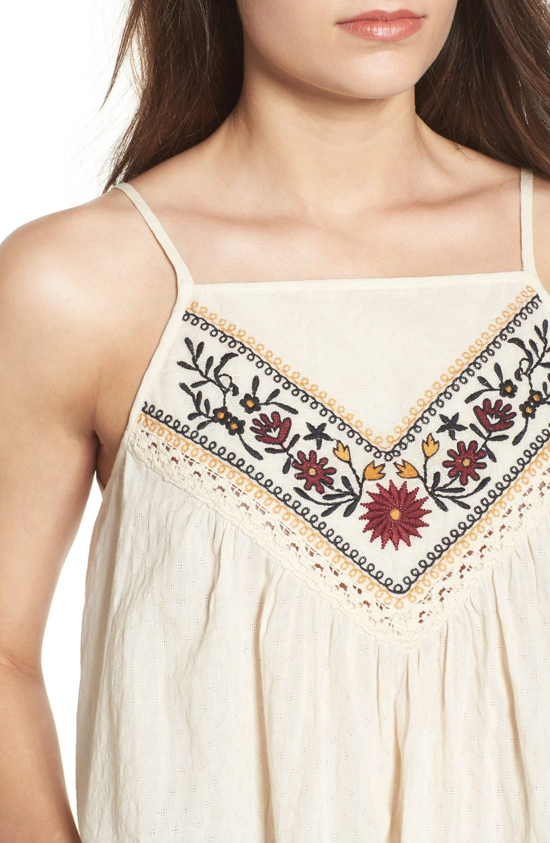 Alternate Image 4  - Band of Gypsies Embroidered Woven Tank