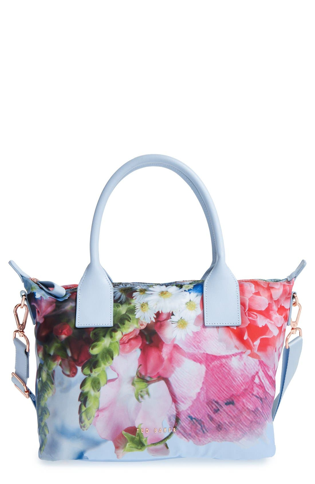 Main Image - Ted Baker London 'Small Vlora' Floral Crossbody Satchel