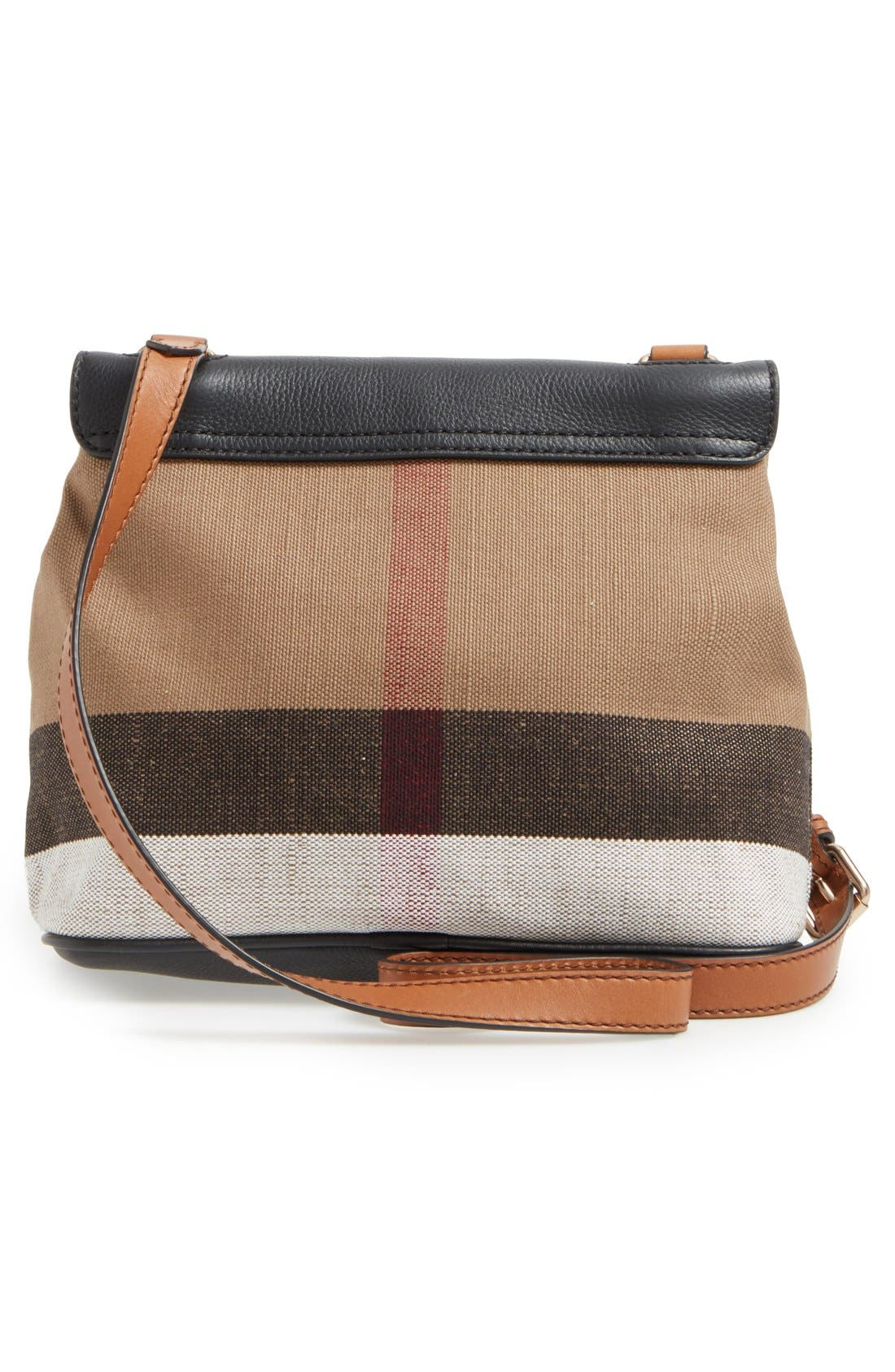 Alternate Image 3  - Burberry 'Small Shellwood' Canvas & Leather Crossbody Bag