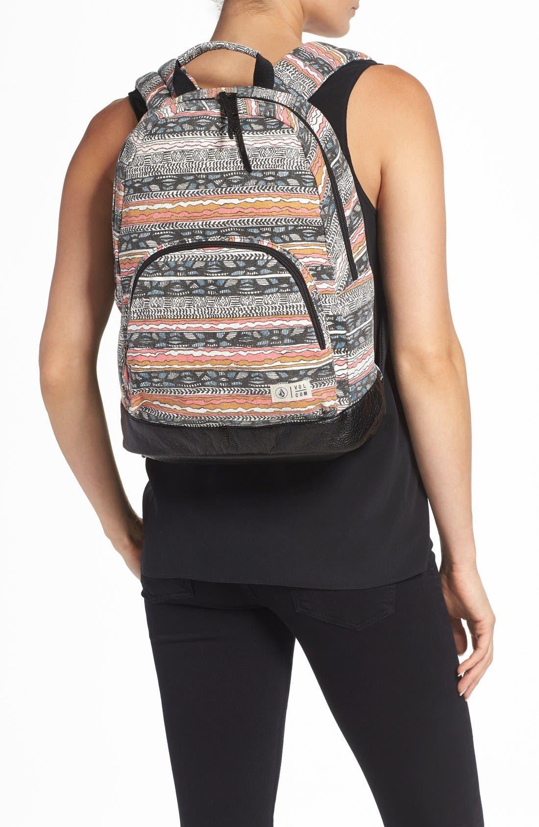 Alternate Image 2  - Volcom 'Schoolyard' Canvas Backpack