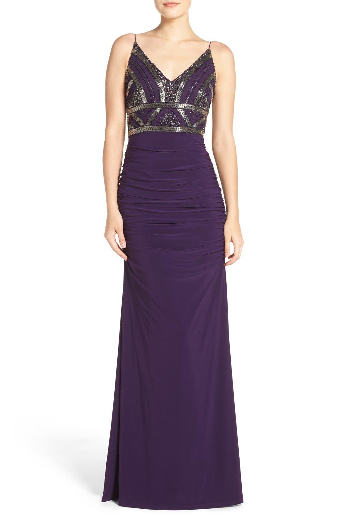 Alternate Image 1 Selected - Adrianna Papell Sleeveless Beaded Bodice Dress