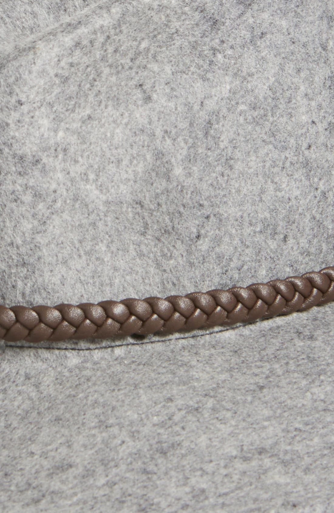 Alternate Image 2  - Billabong Wool Hat with Braided Faux Leather Trim
