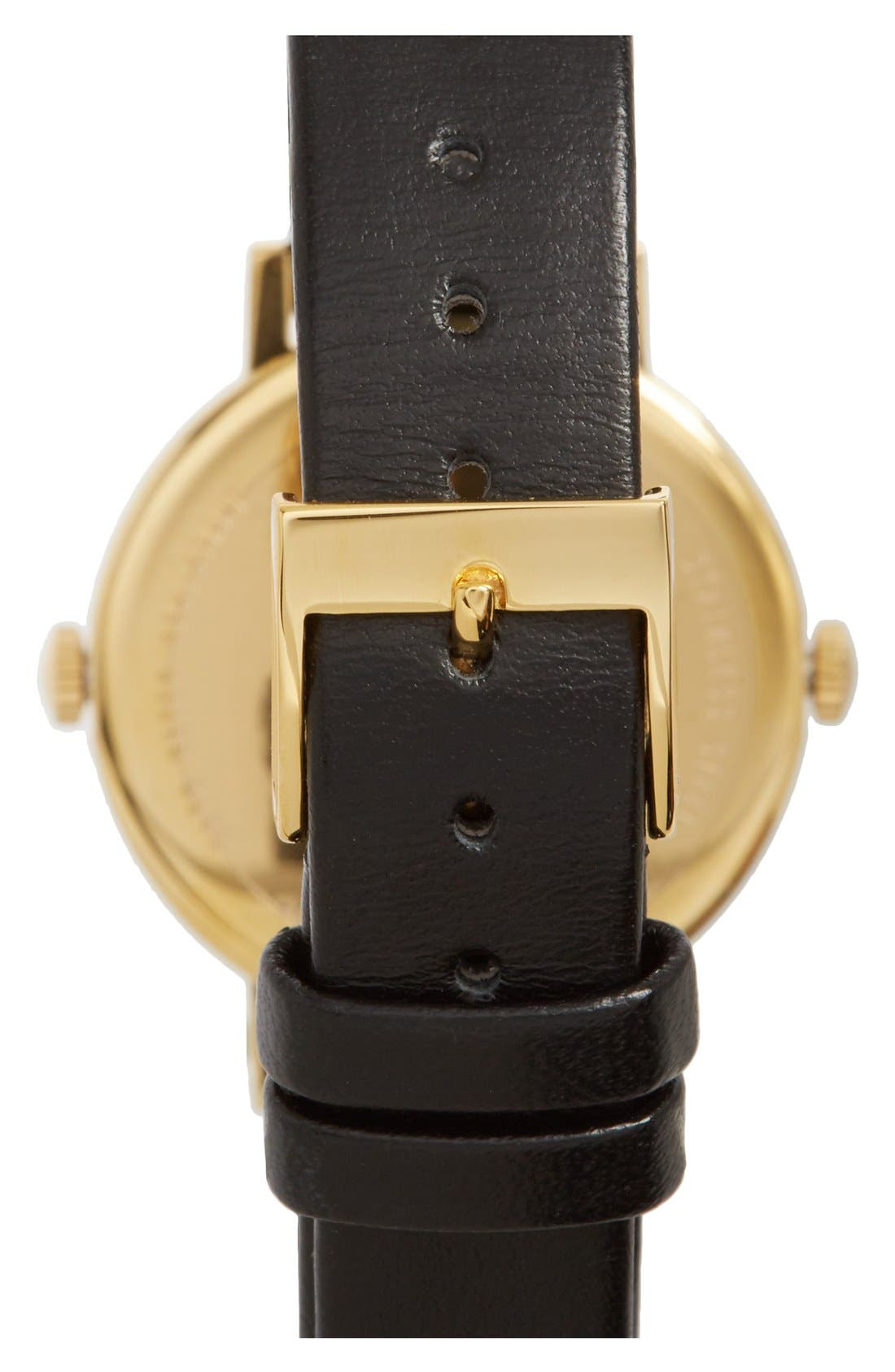 Alternate Image 2  - Steven Alan 'Time Traveler' Round Leather Strap Watch, 30mm