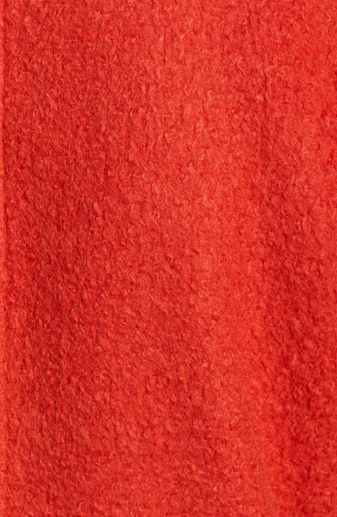 Alternate Image 5  - Bernardo Textured Long Coat (Regular & Petite)