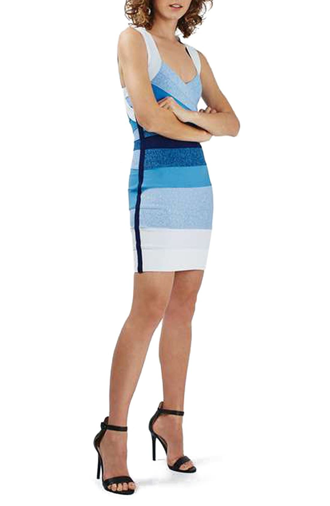 Alternate Image 1 Selected - Topshop Ombré Bandage Body-Con Dress
