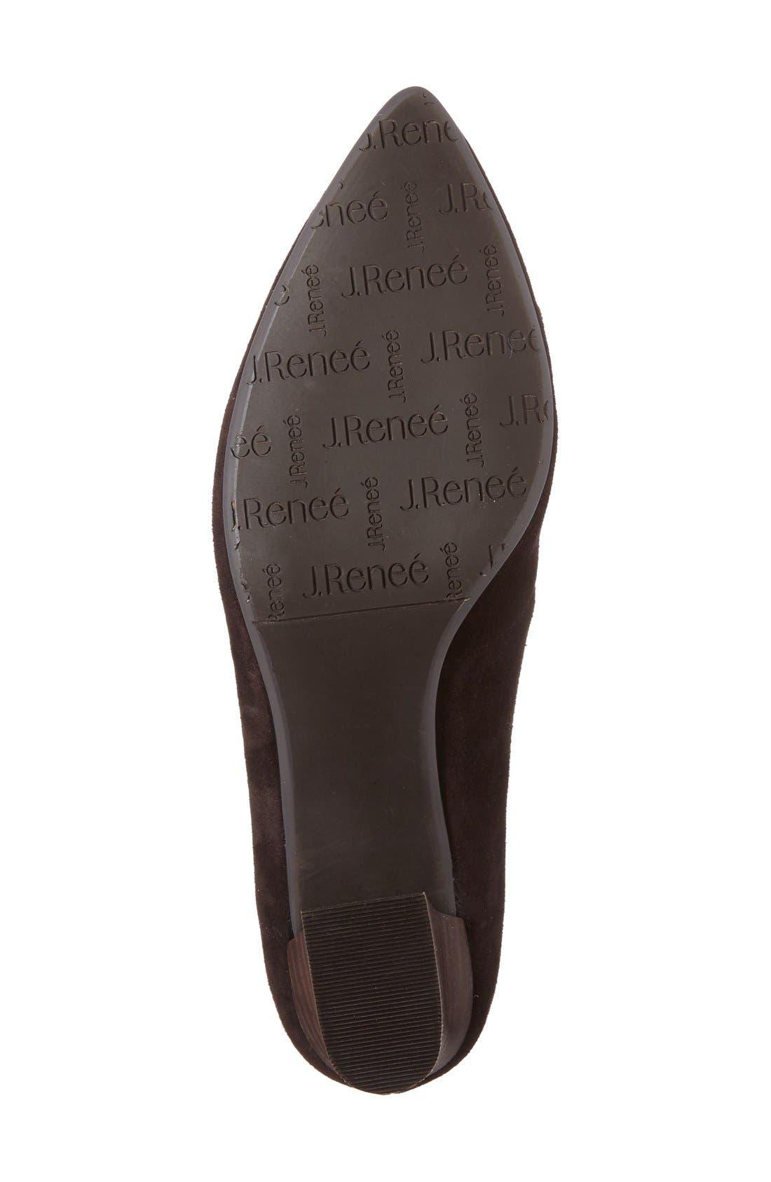 Alternate Image 4  - J. Renée Ellam Pointy Toe Lace-Up Oxford (Women)