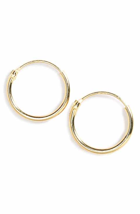 Tomas Sterling Silver Endless Hoop Earrings (Girls)