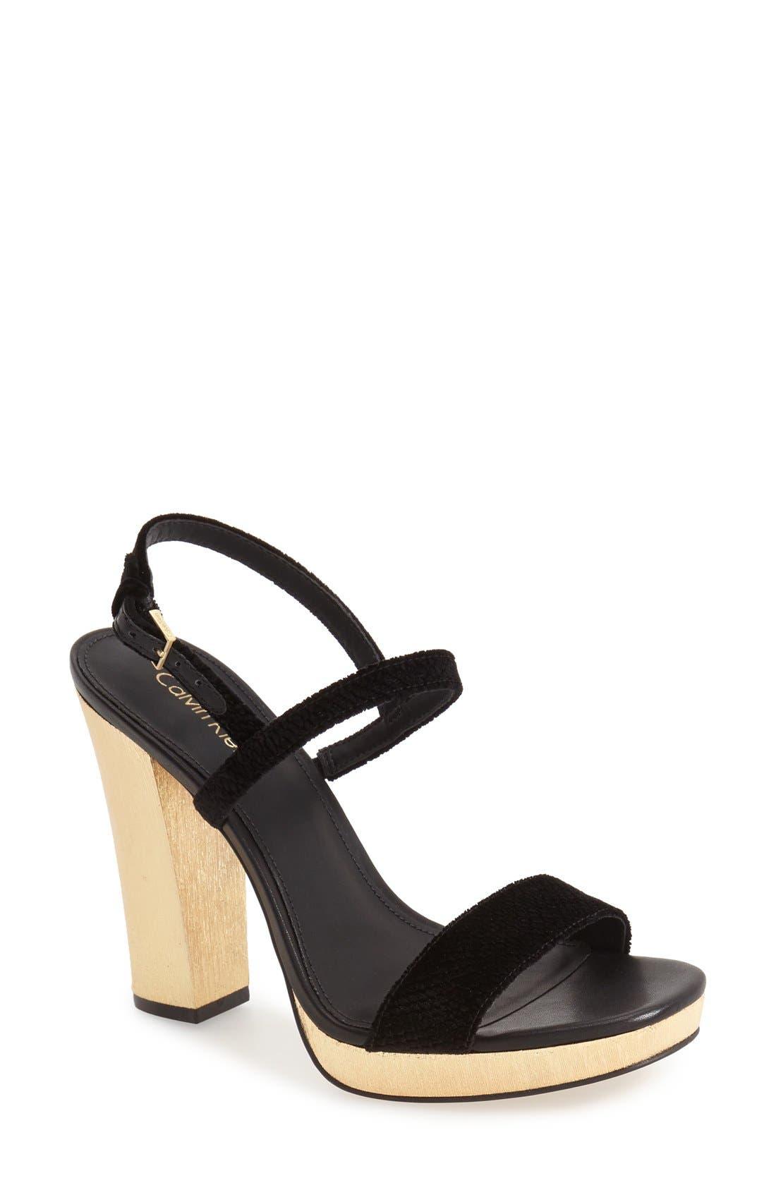 CALVIN KLEIN 'Bambii' Platform Sandal