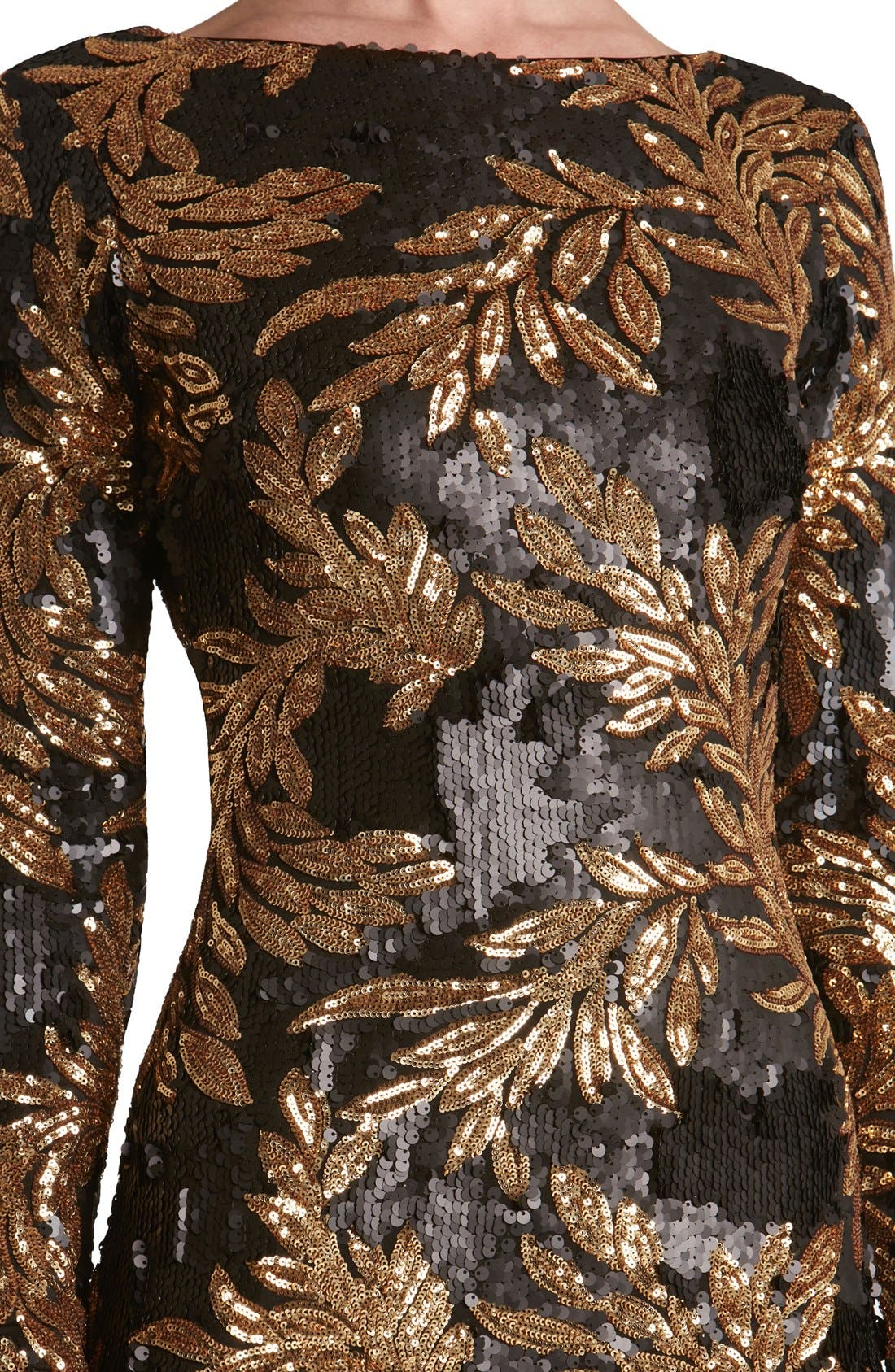 Alternate Image 5  - Dress the Population 'Emery' Scoop Back Two-Tone Sequin Sheath Dress