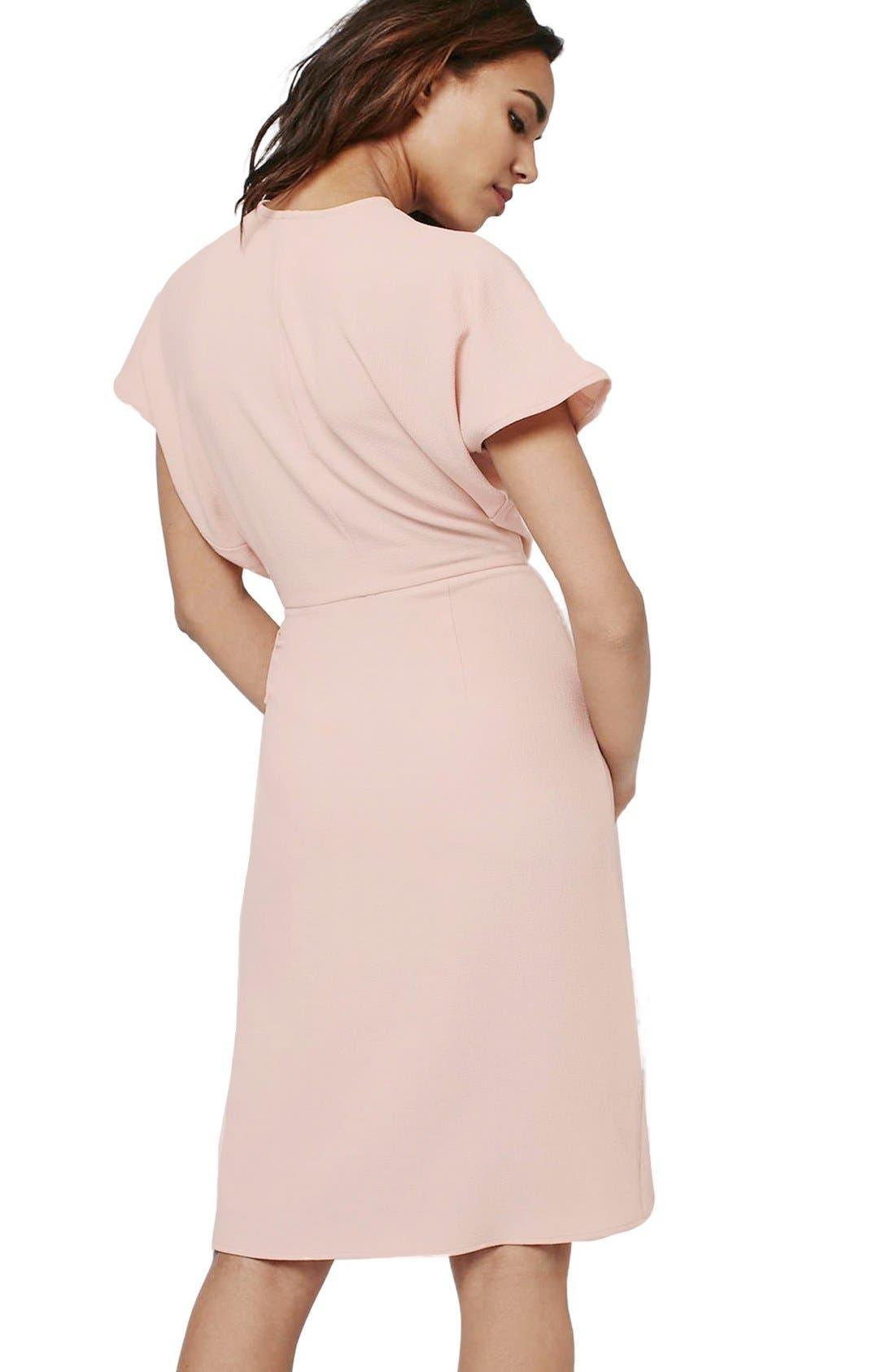 Alternate Image 2  - Topshop Crepe Wrap Dress