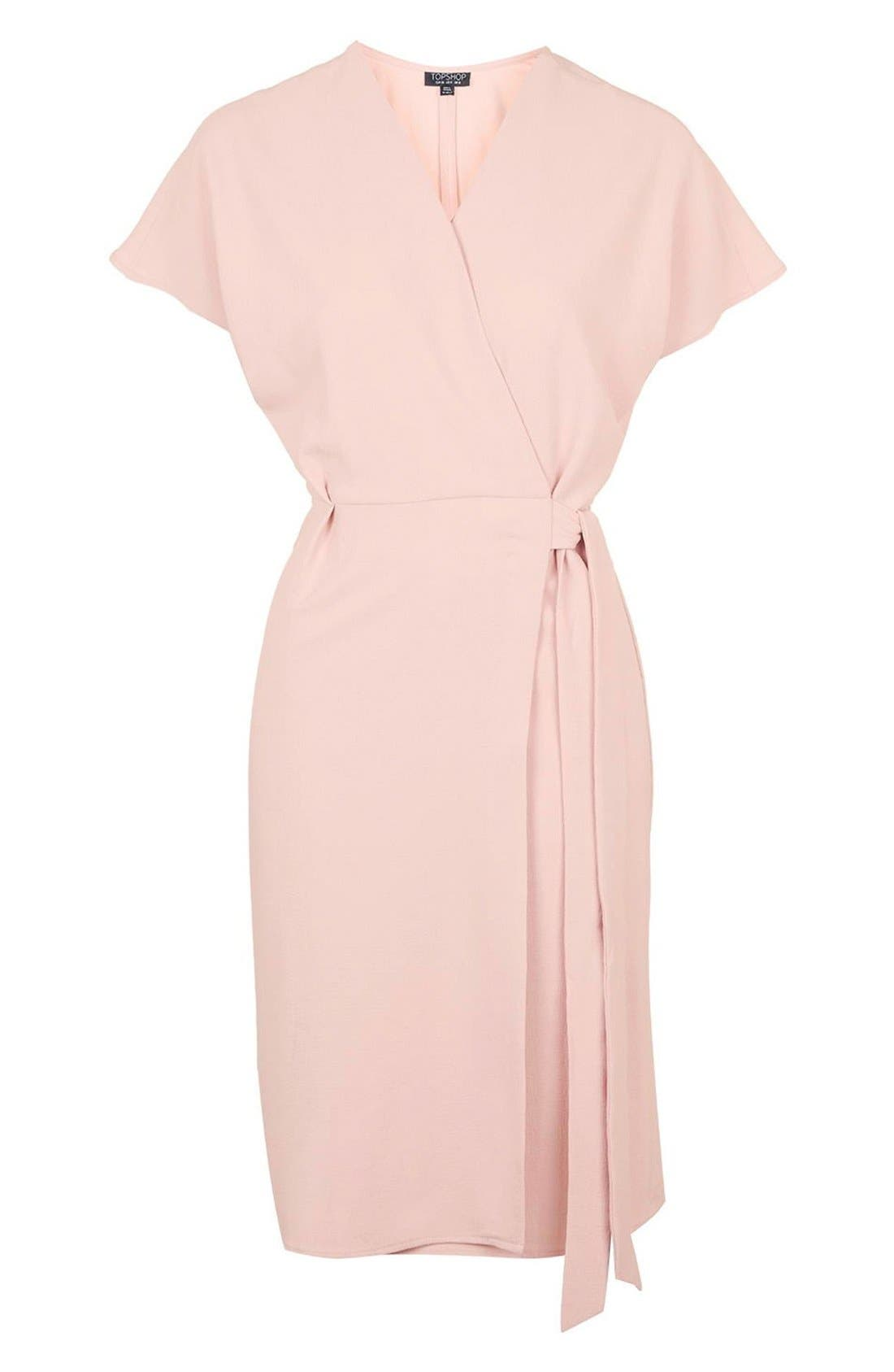 Alternate Image 4  - Topshop Crepe Wrap Dress
