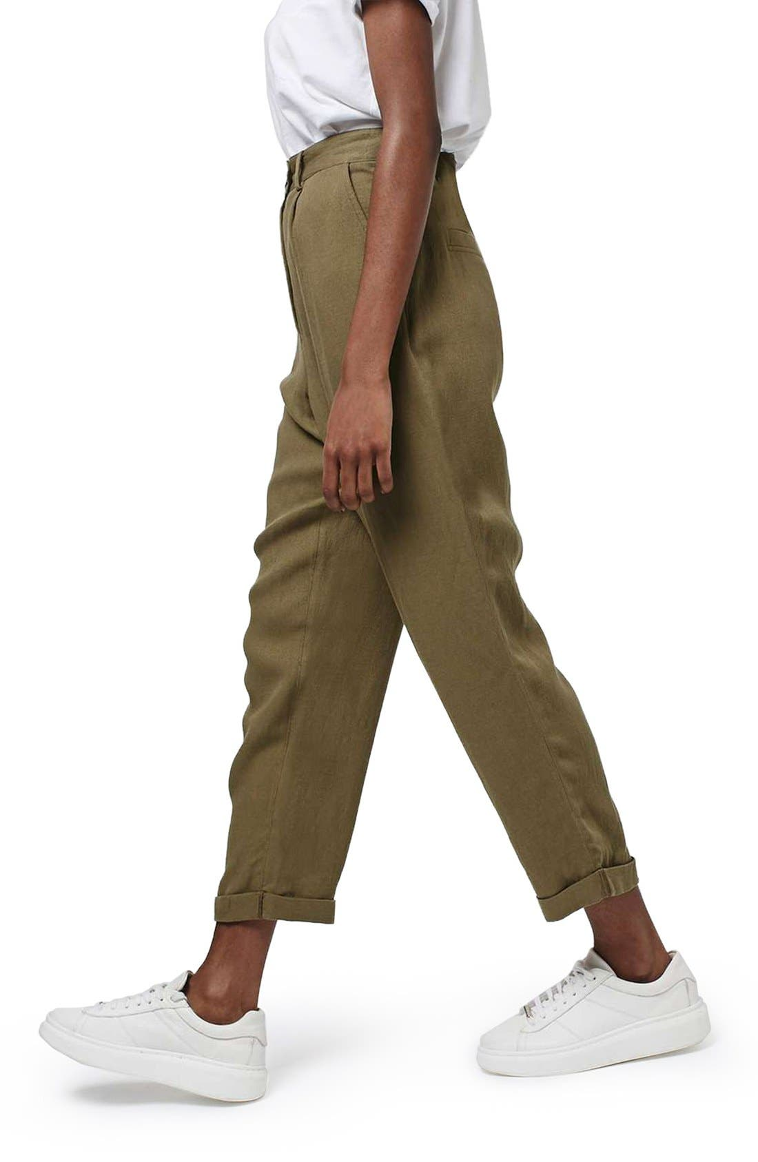 Alternate Image 3  - Topshop 'Mensy' Corduroy Peg Trousers
