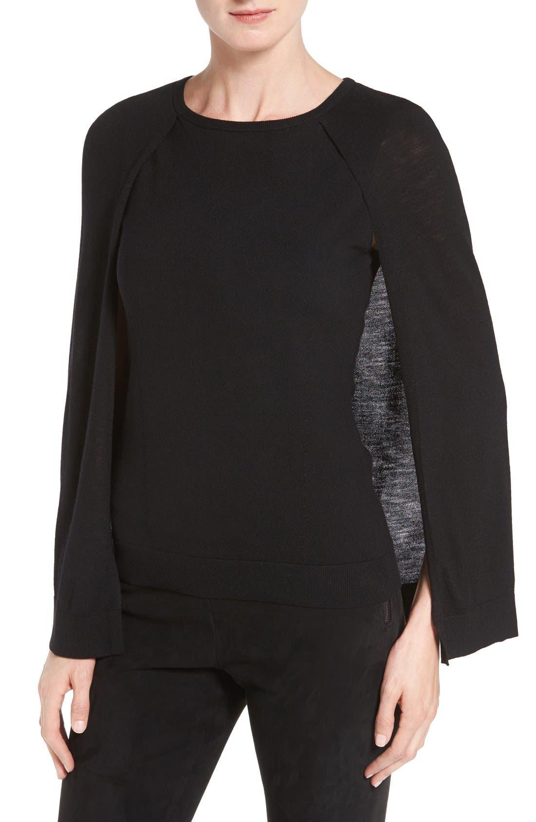 KOBI HALPERIN 'Lilianna' Cape Sleeve Merino Wool Pullover
