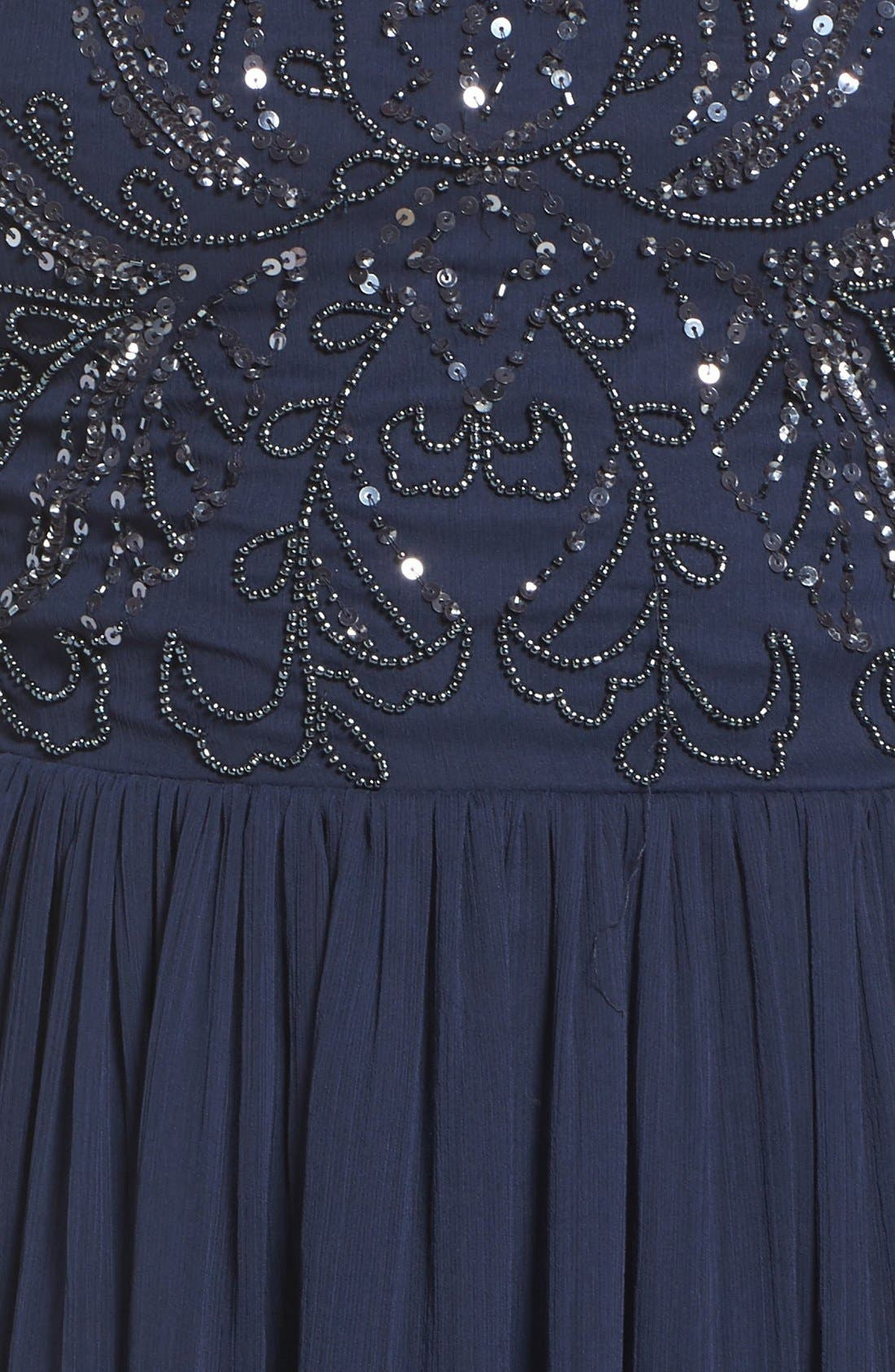 Alternate Image 6  - Adrianna Papell Embellished Bodice Chiffon Gown