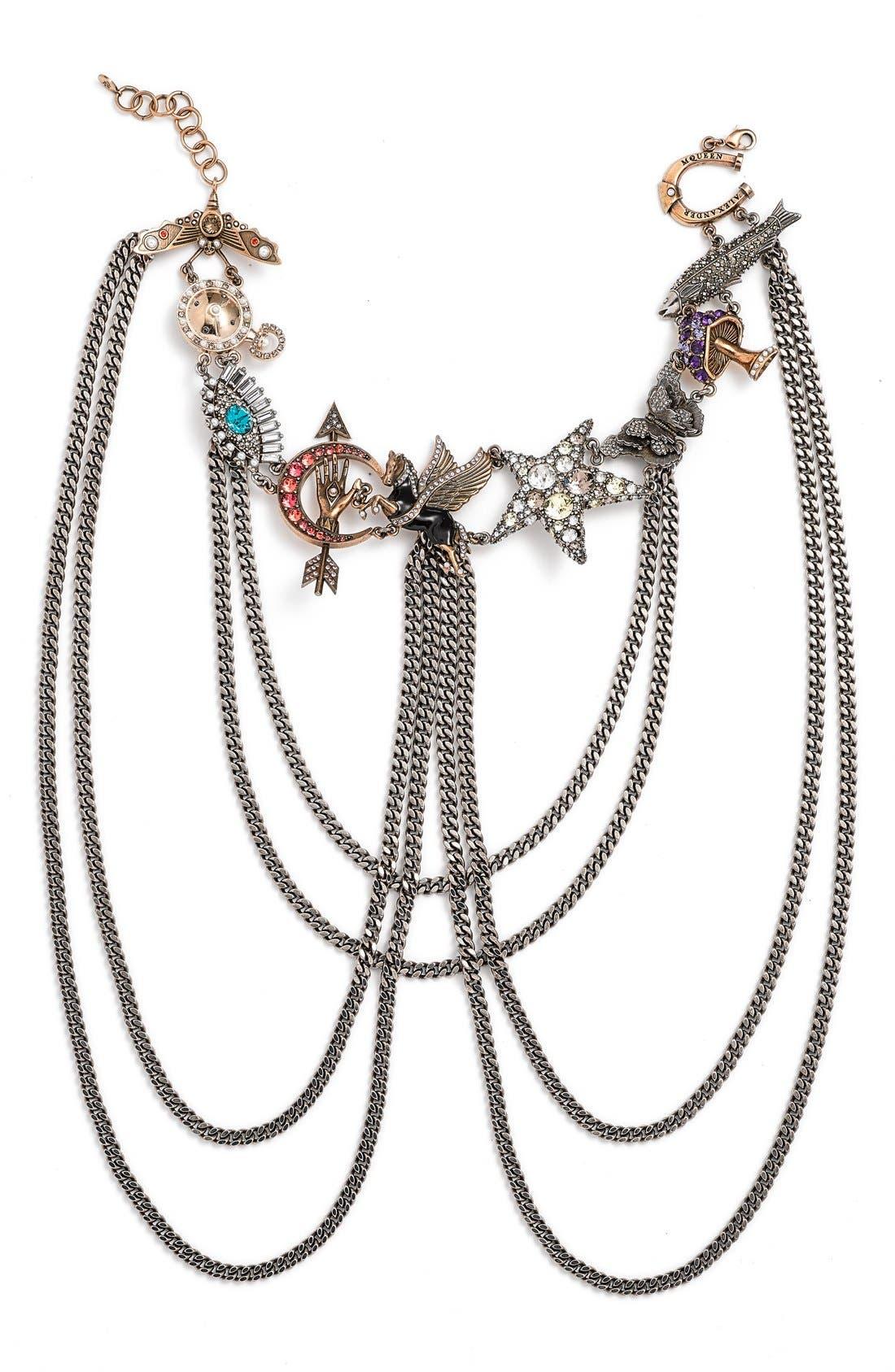 Alternate Image 1 Selected - Alexander McQueen 'Pegasus' Multistrand Necklace