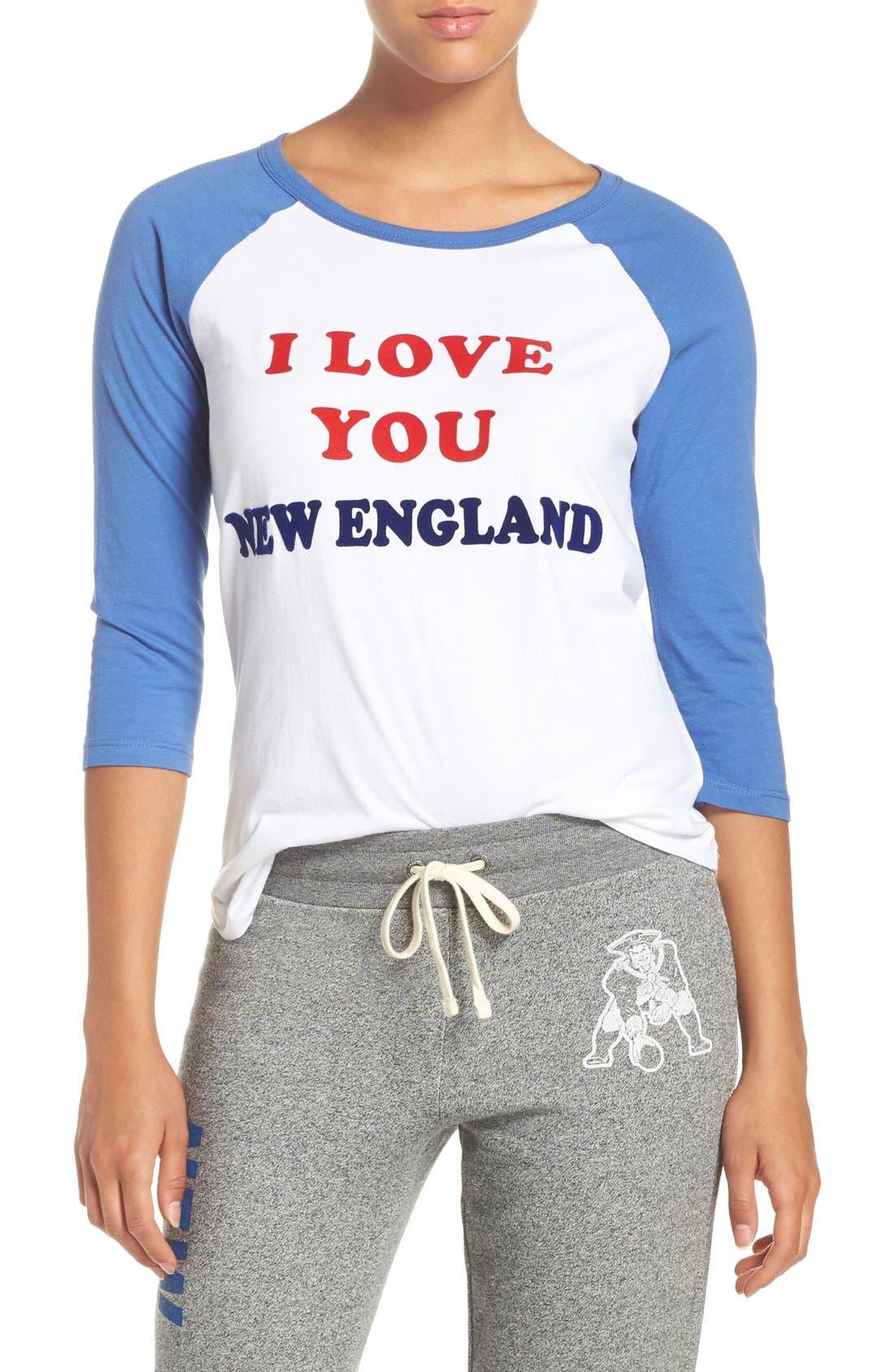 Alternate Image 1 Selected - Junk Food 'New England Patriots' Raglan Cotton Tee
