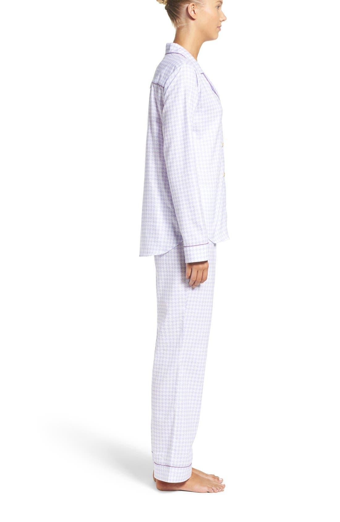 Alternate Image 3  - UGG® 'Raven' Houndstooth Pajamas