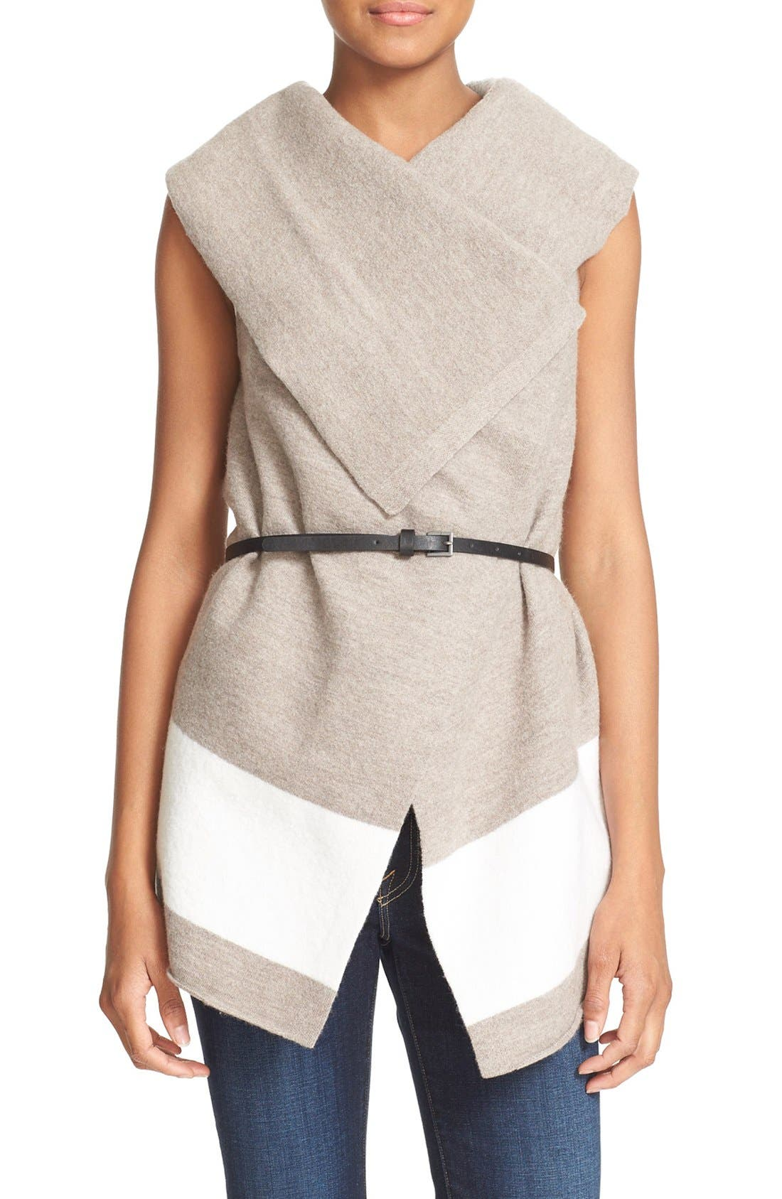 JOIE 'Ligiere' Sleeveless Boiled Wool Sweater