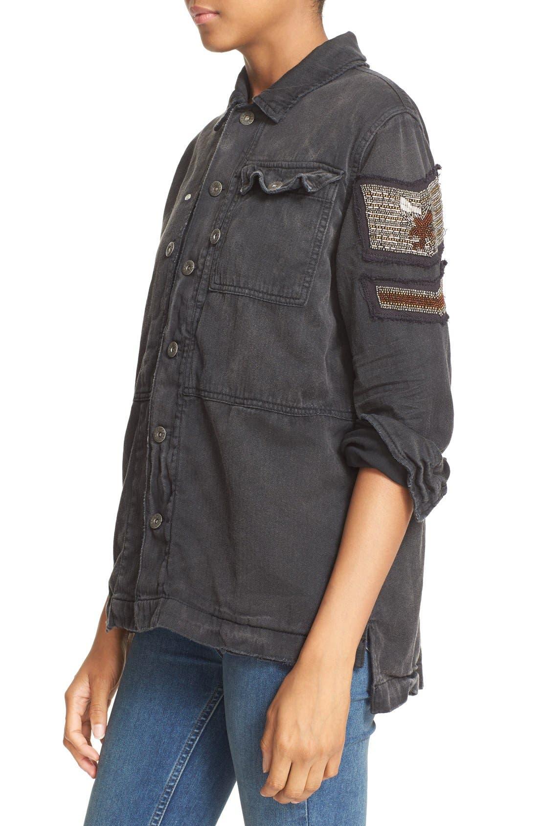Alternate Image 5  - Free People Embellished Military Shirt Jacket