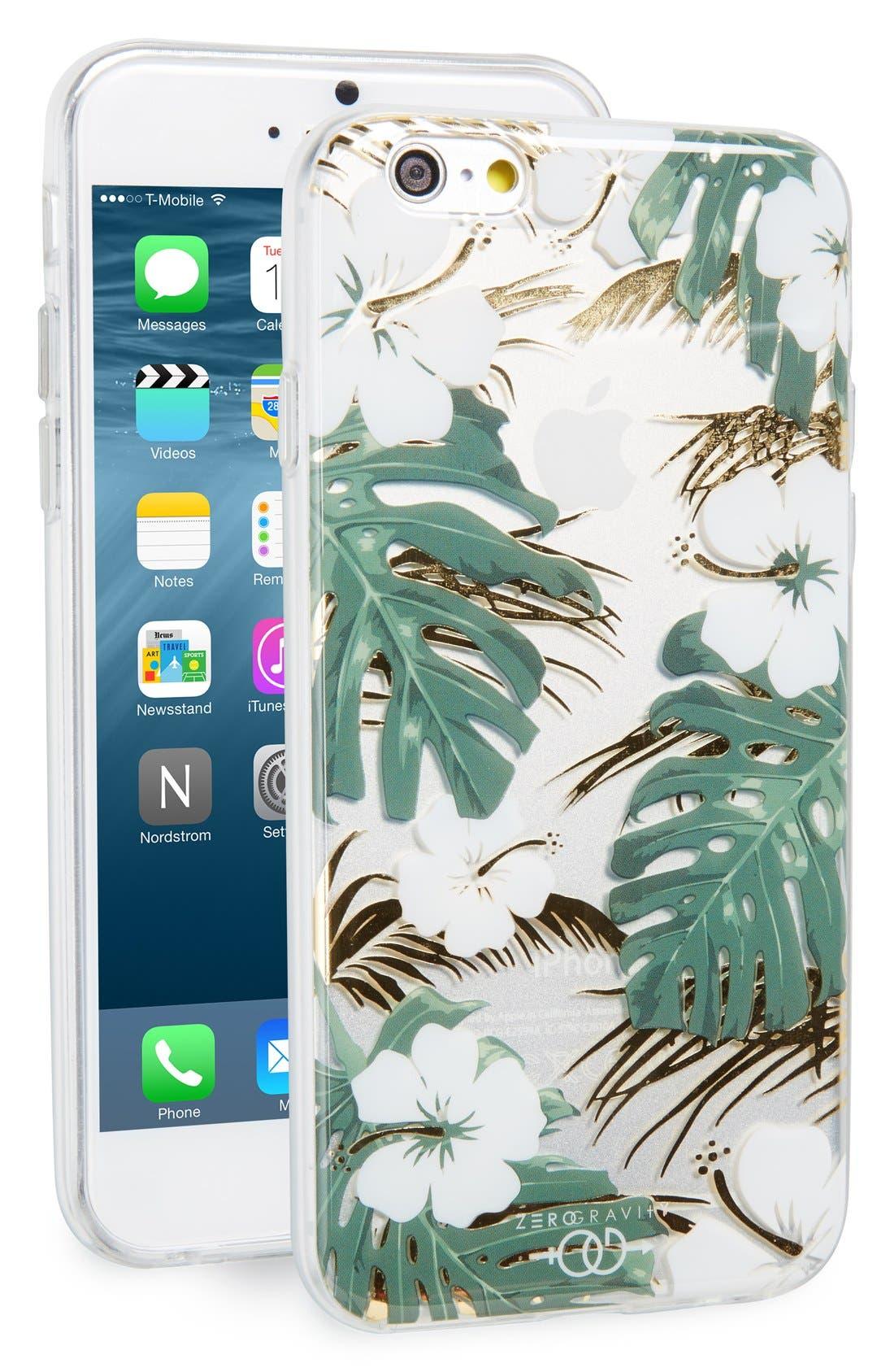 Main Image - Zero Gravity Escape Flower Print iPhone 6/6s Case
