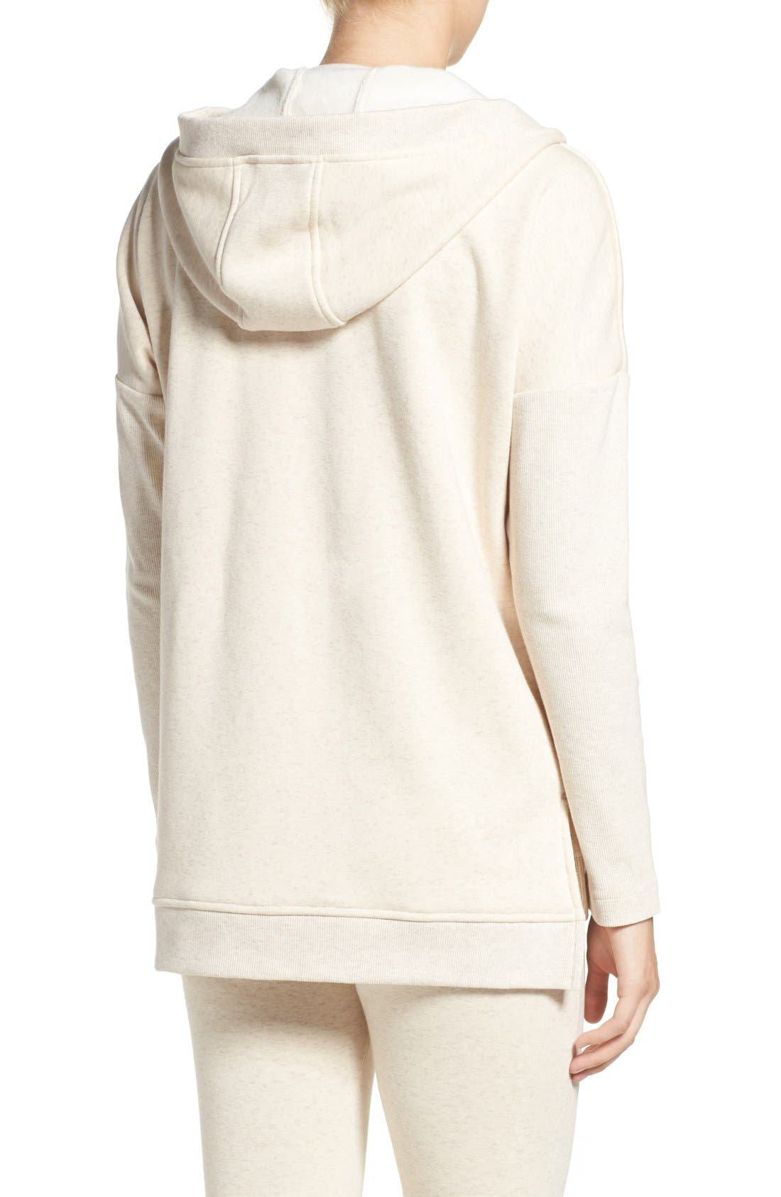 Alternate Image 2  - UGG® 'Mavis' Stretch Cotton Zip-Up Hoodie