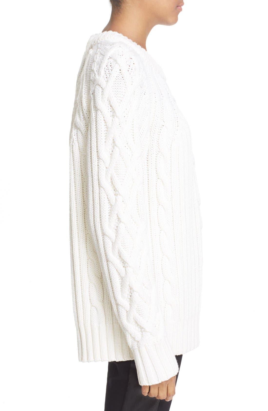 Alternate Image 3  - rag & bone 'Kiera' Cable Knit Crewneck Sweater